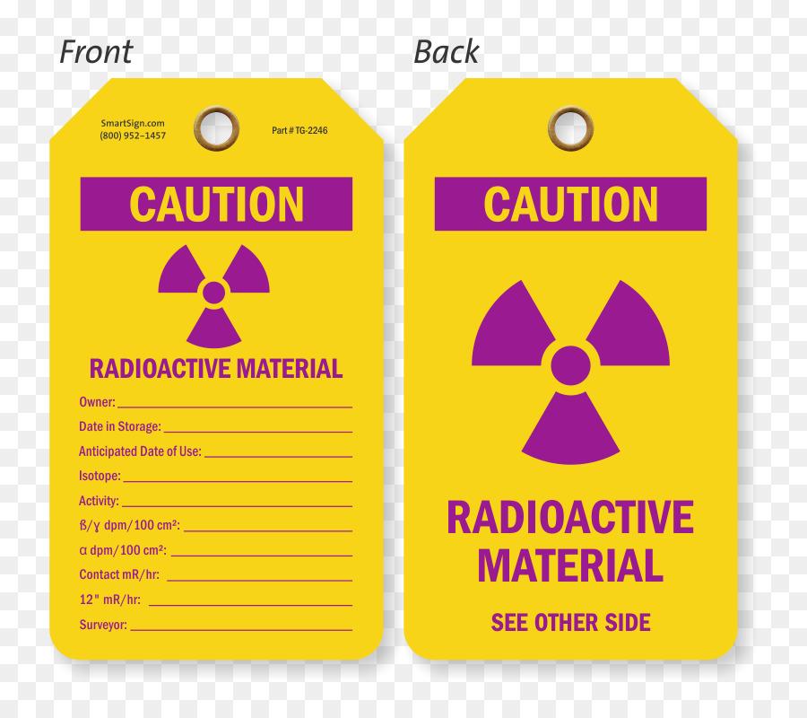 Radioactive Decay Radioactive Waste Hazard Symbol Laboratory