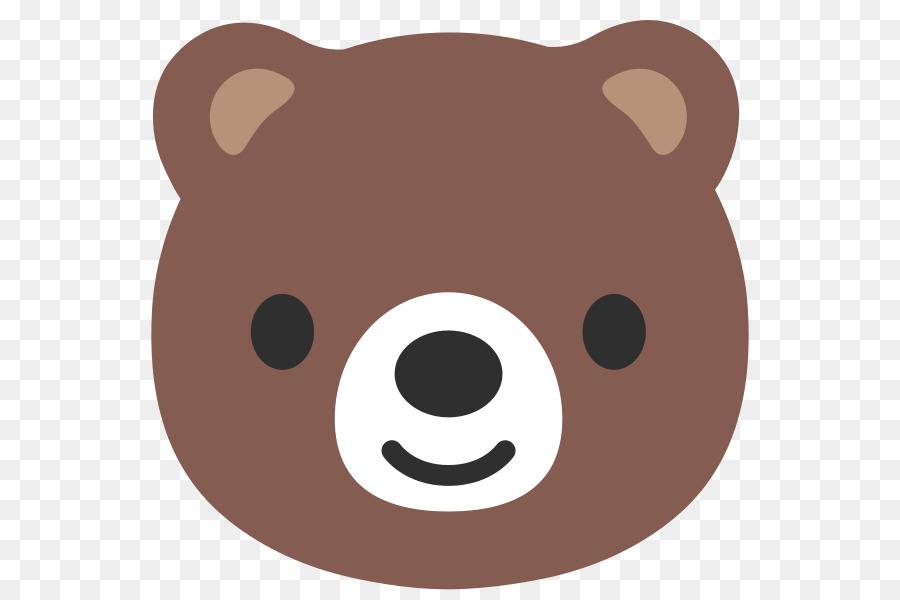 bear emoji android noto fonts clip art bear png vector diagram png