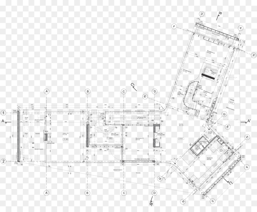 Drawing Farnsworth House House Plan