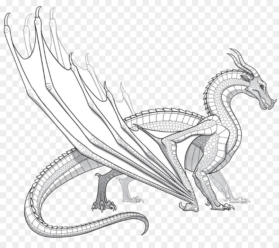 Alas de Dragón de Fuego para Colorear libro - barbed png dibujo ...