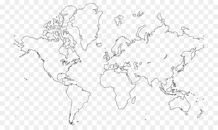 World Map Globe Drawing Line Art Product Physical Map Png Download