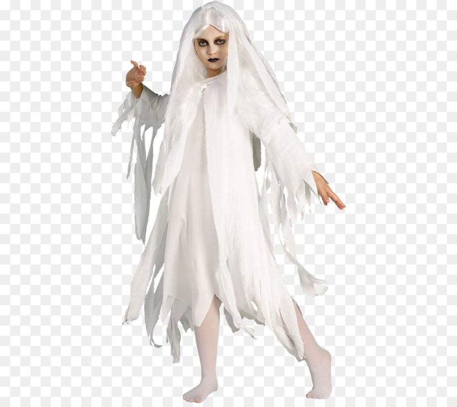 Halloween Kostüm Kind Geist Kostüm Party Weiß Gaze Png