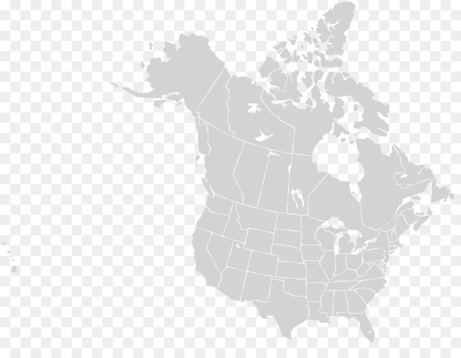 United States Canada Vector Map Blank map - map of canada ...