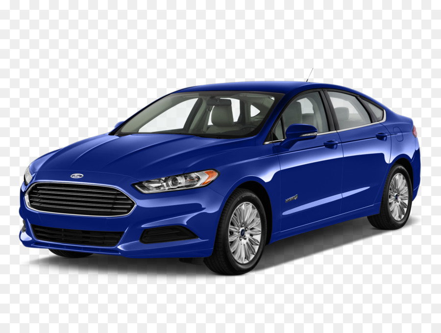 Ford Fusion Hybrid 2016 2017 Family Car Electric Blue Png