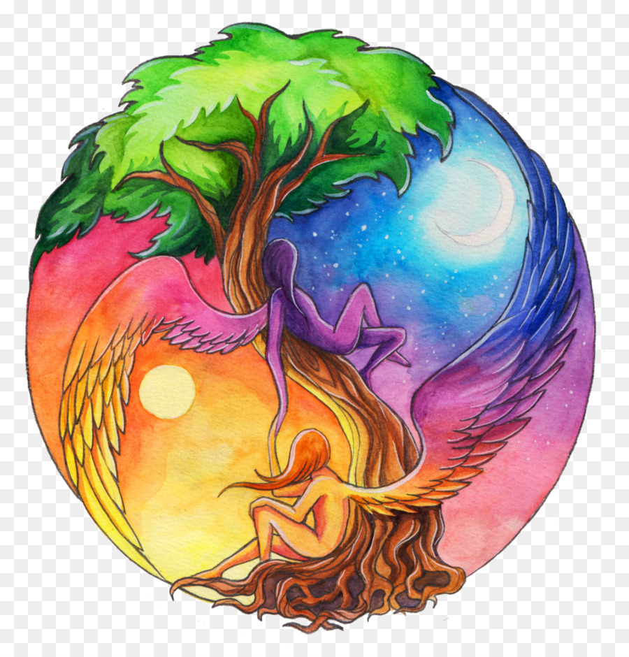 Yin And Yang Earth Drawing The Seventh Evening Of The Seventh Moon