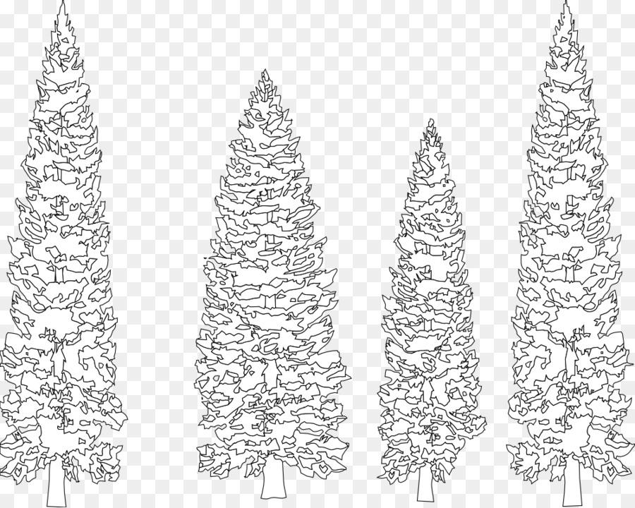 Árbol de pino Abeto de la Línea de arte para Colorear libro - pino ...