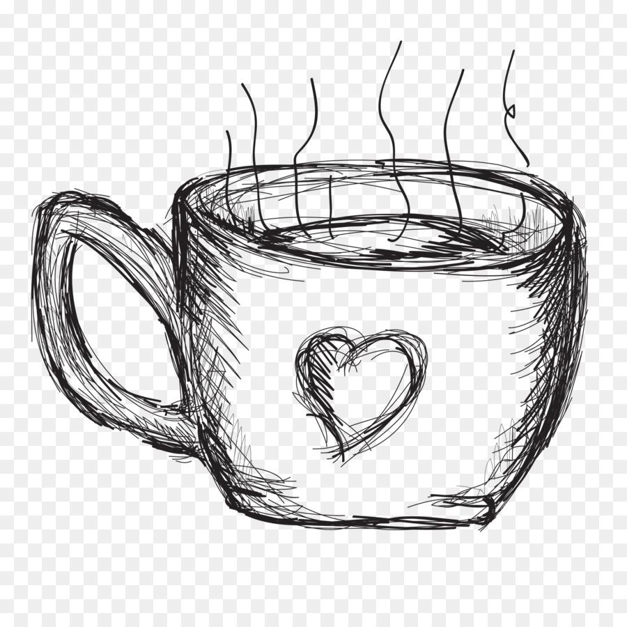 Coffee Cup Mug Tableware Coffee Sketch Png Download 30003000