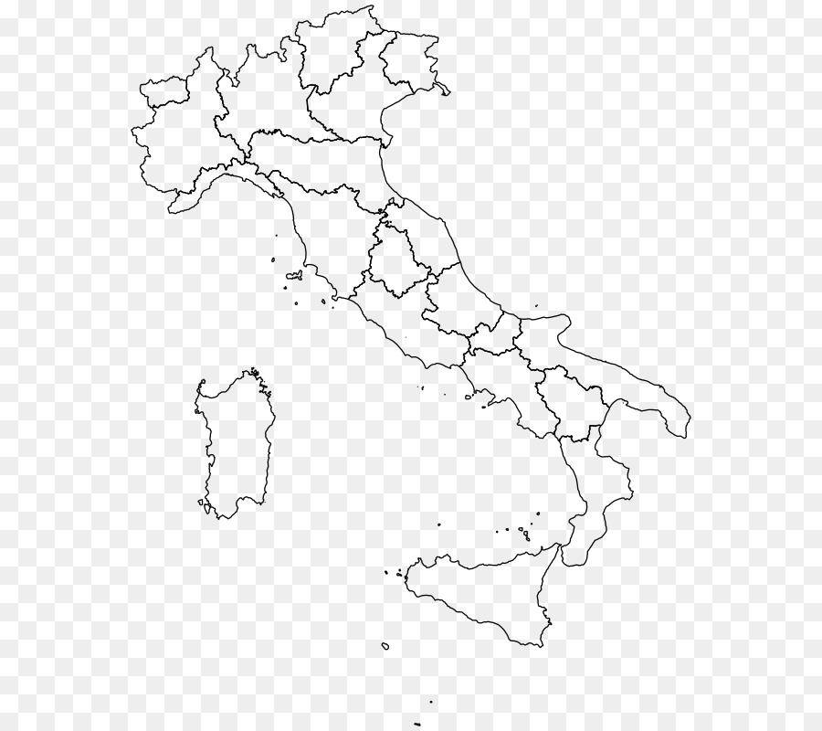 Map Of Italy Regions In Italian.Regions Of Italy Vector Map Clip Art Italian Vector Png Download