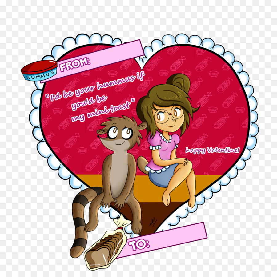 Mordecai Rigby Valentine S Day Deviantart Valentines Card Png