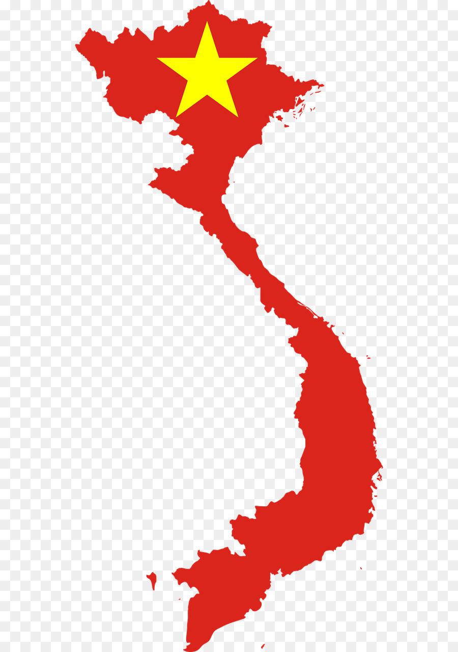 Flag of Vietnam South Vietnam Map - vietnam vector png download ...