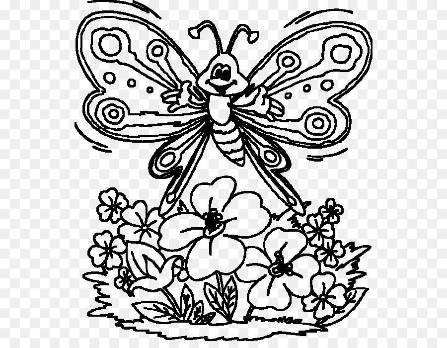 Kelebek Boyama Kitabı çocuk çizimi Kelebek Png Indir 600686