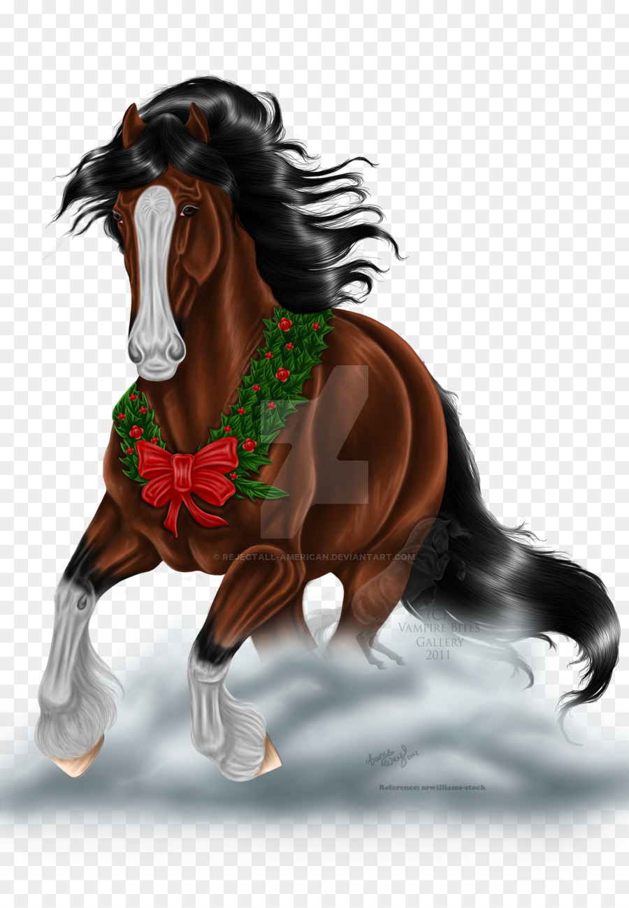 clydesdale horse stallion american quarter horse christmas pony mud horse - Horse Christmas