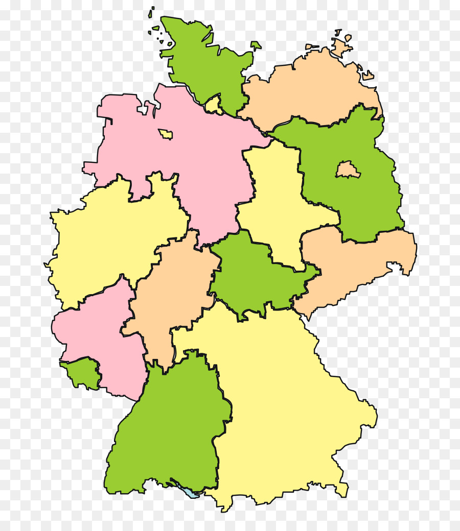 States Of Germany Bavaria Weimar Map Saxony Creative Numbers Png