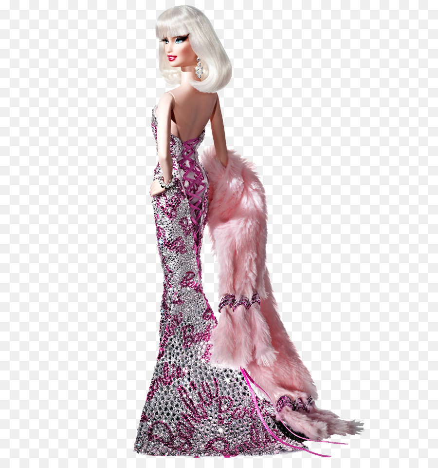 Barbie Fashion doll Fashion doll Evening gown - kind of mulberry png ...