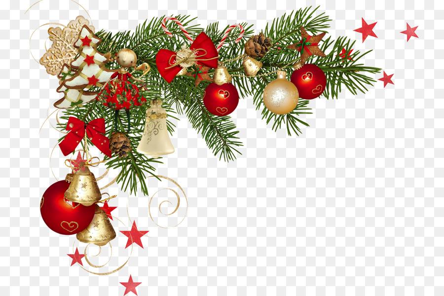 Decoración de navidad adornos de Navidad Clip art - borde del marco ...