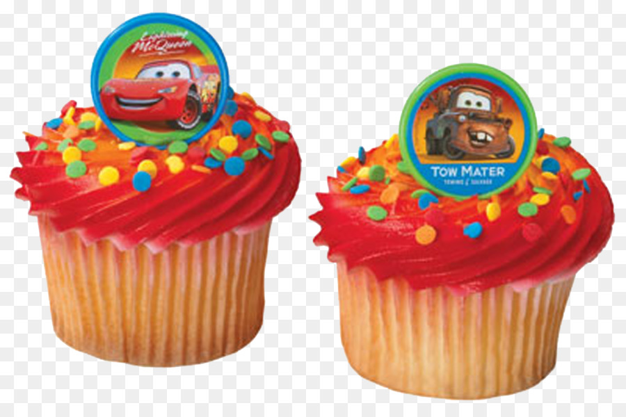 Lightning Mcqueen Mater Cupcake Birthday Cake Frosting Icing