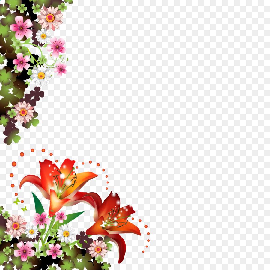 Picture Frames Flower Borders And Frames Floral Design Clip Art