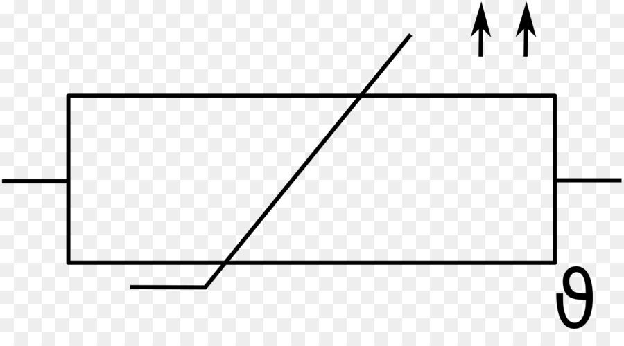 Kaltleiter Electronic symbol Thermistor Resistor Circuit diagram ...