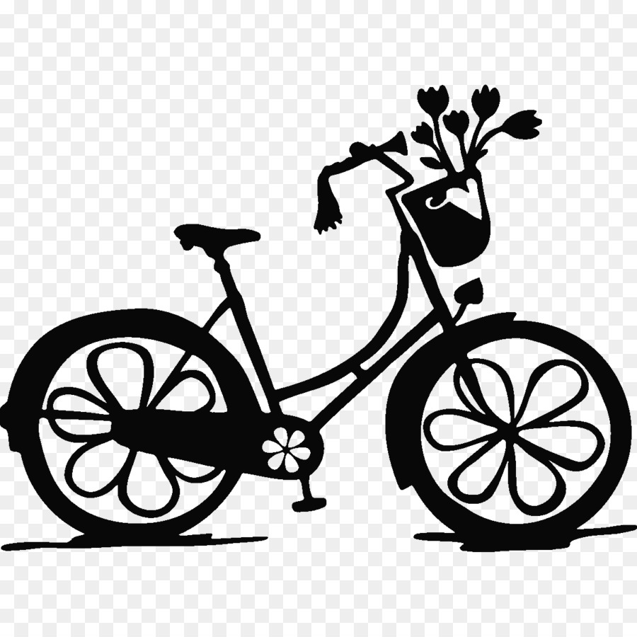 Wall decal bicycle sticker monochrome photography png