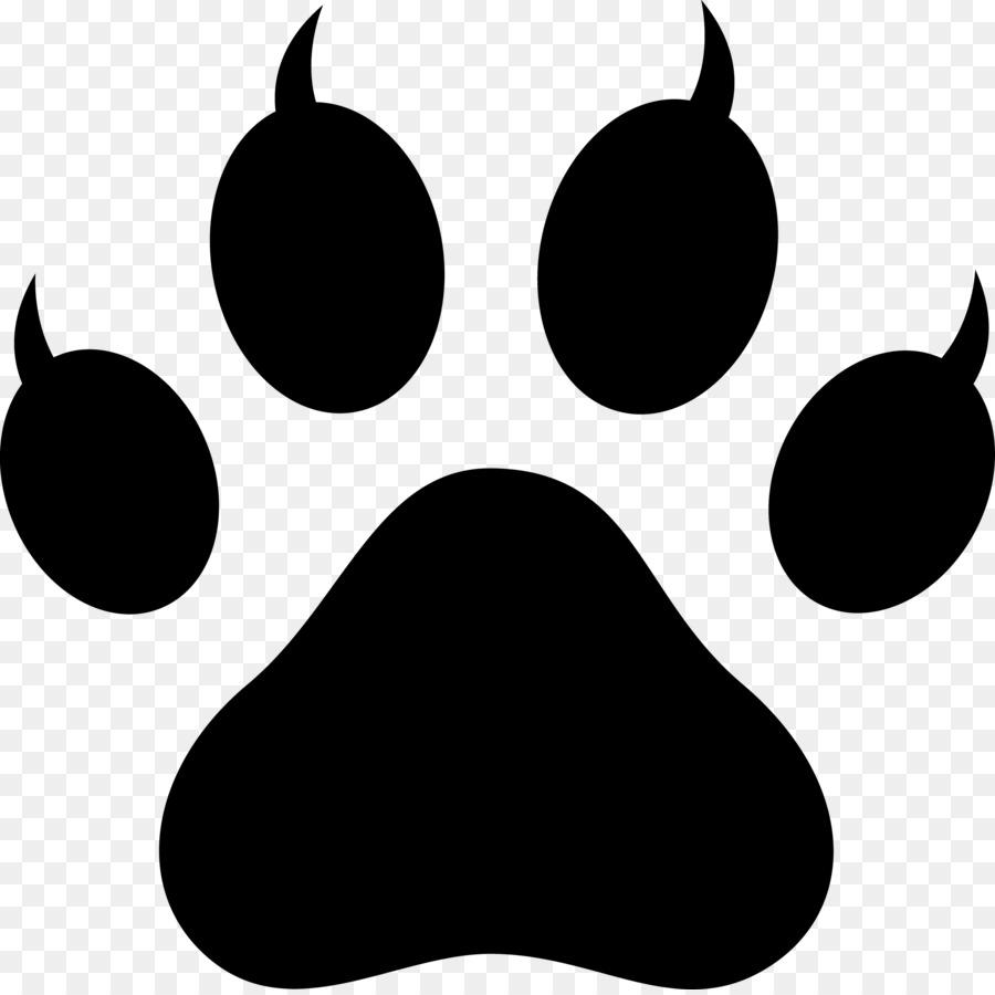 dog cat paw tiger clip art black paw prints png download 3873 rh kisspng com free tiger paw print clip art