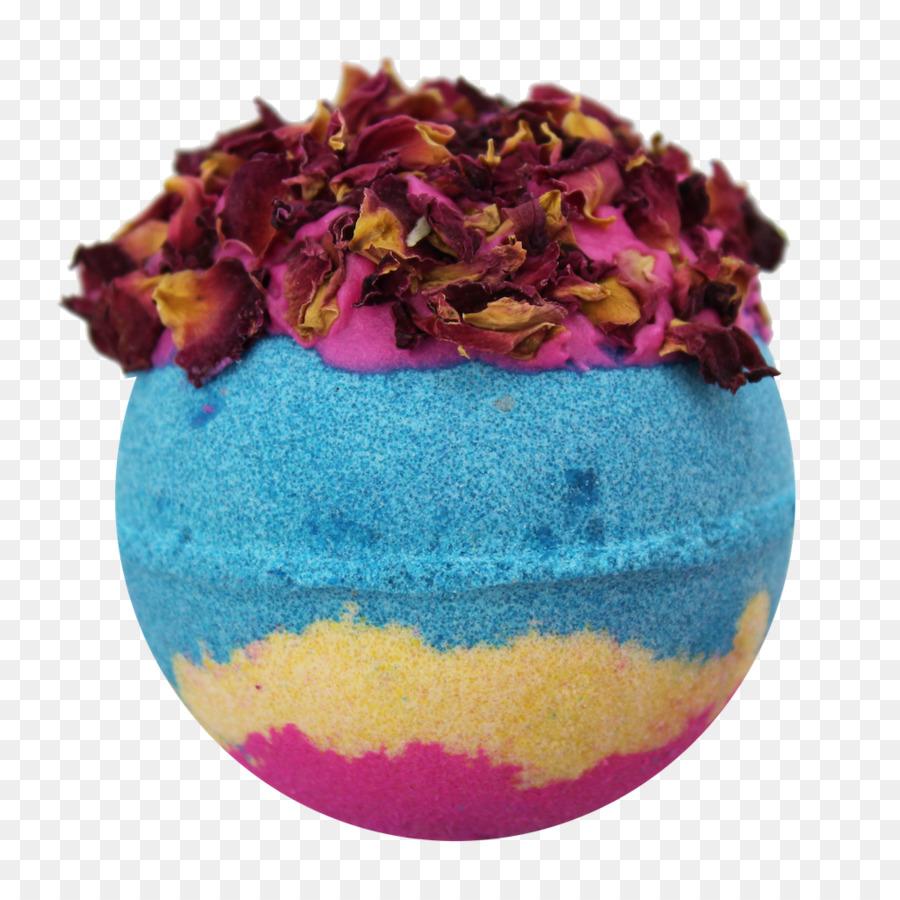 Bath Bomb Bathing Bathtub Cruelty Free Flower Petals Floating Png