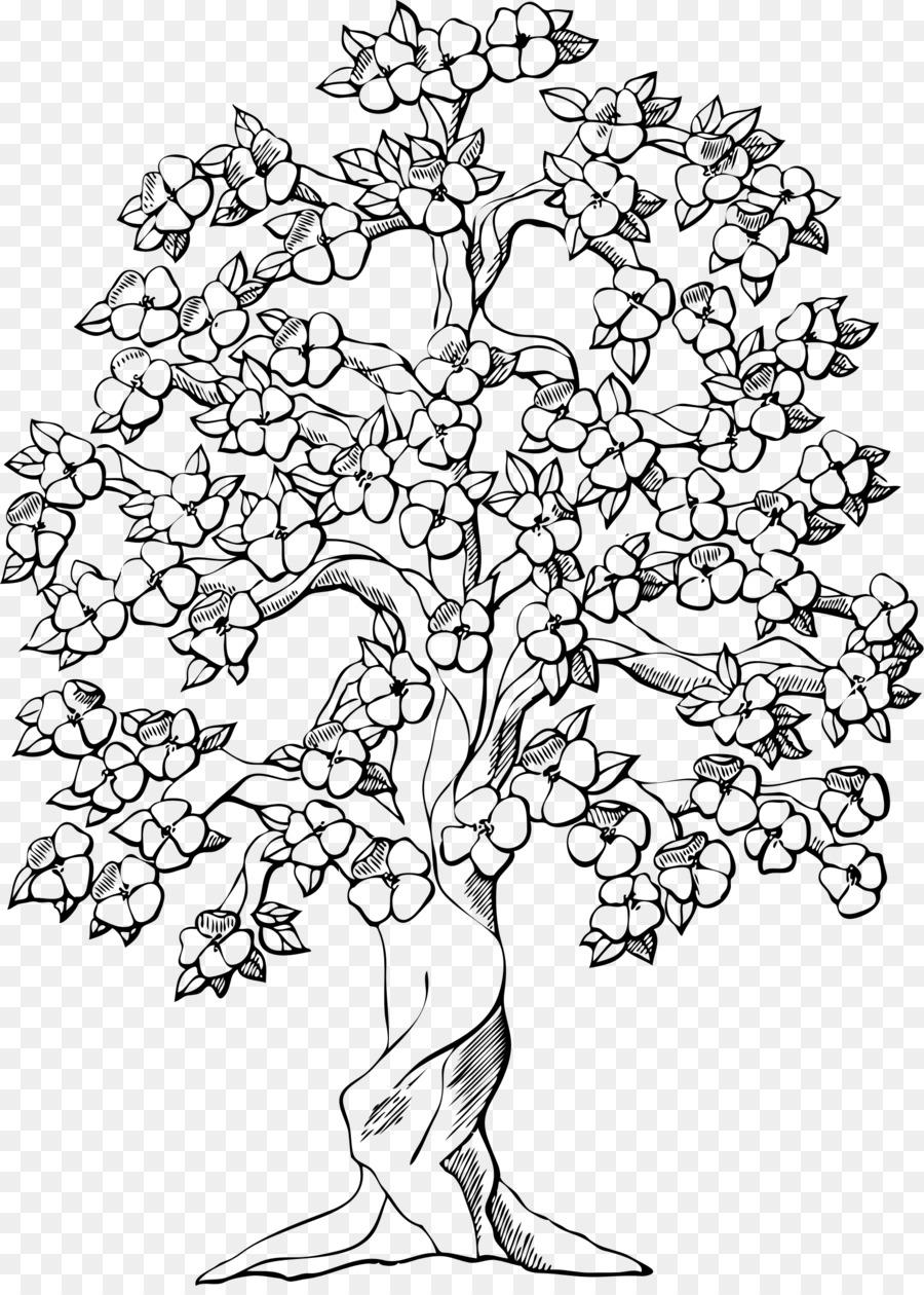 Libro para colorear de Árbol de Manzana de Almendra Niño - el árbol ...