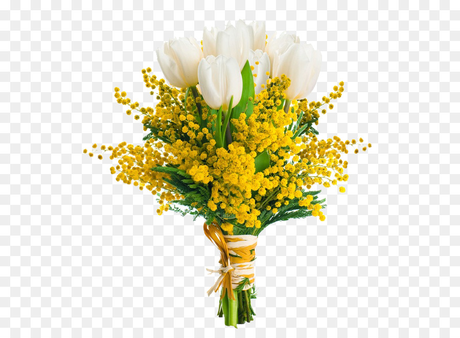 Flower Bouquet Acacia Dealbata Party Rose Mimosa Png Png Download