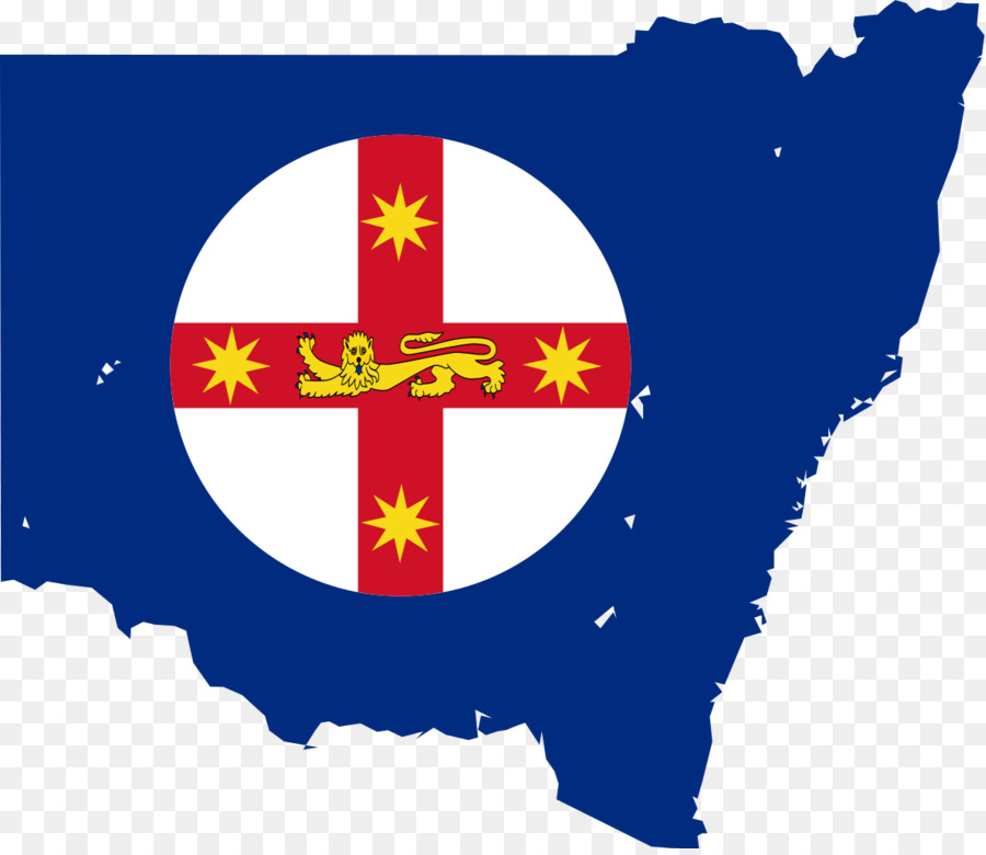 Flag Of New South Wales Flag Of Australia State Flag Map Vector