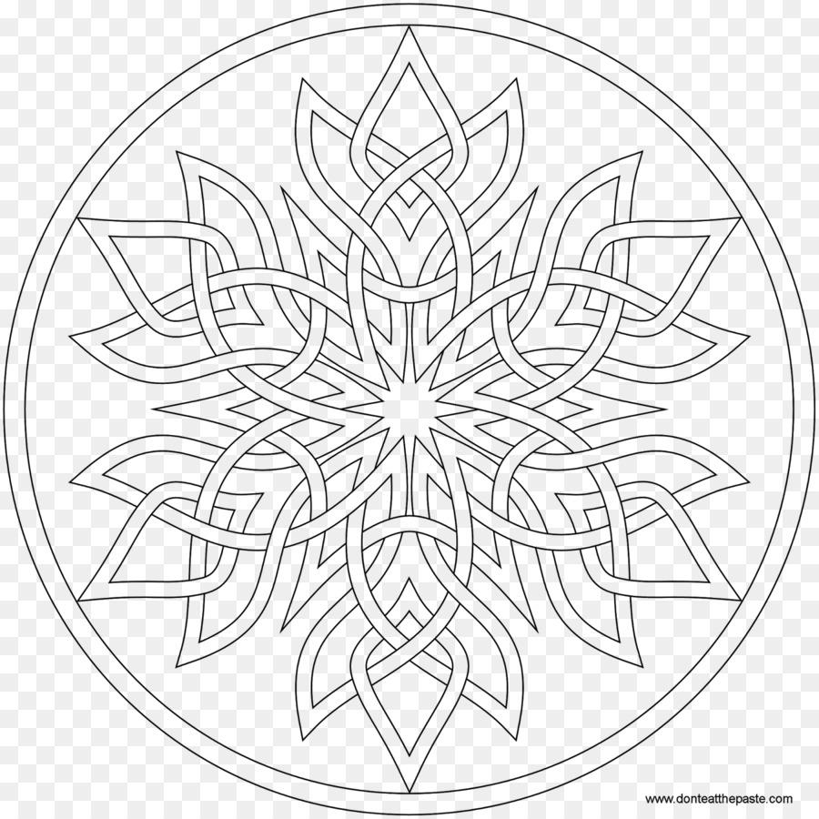 Fiocco Di Neve Da Colorare Mandala Per Adulti Fiocco Di Neve