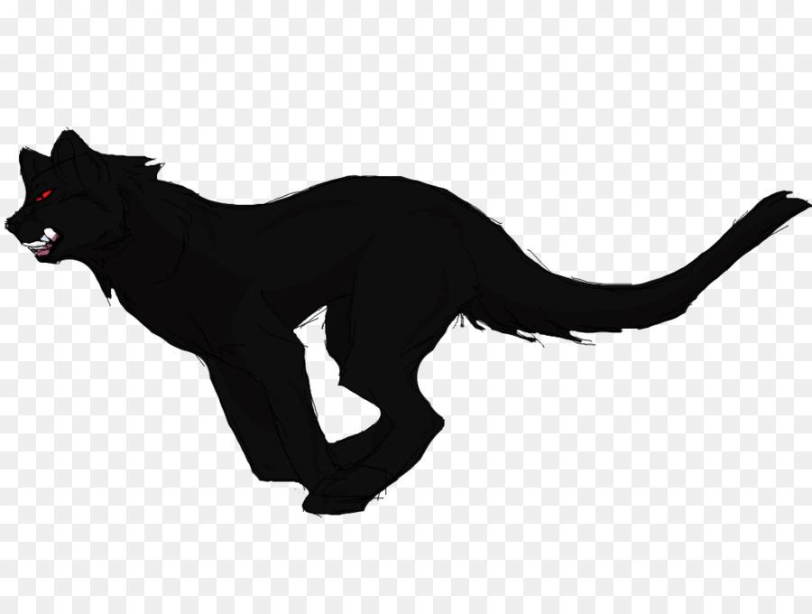 Pantera negra gato Negro Dibujo de Perro - en blanco y negro ...