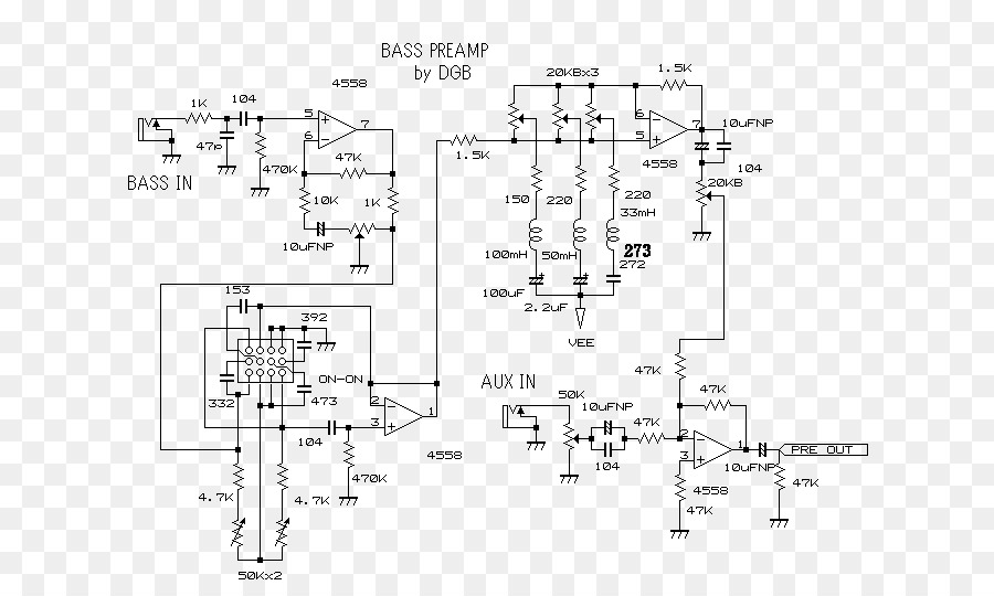 Preamplifier Circuit Diagram | Guitar Amplifier Circuit Diagram Preamplifier Schematic Simple