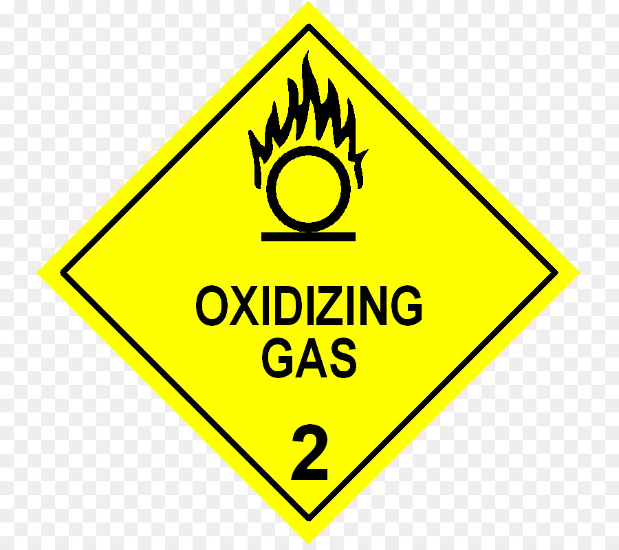 Dangerous Goods Label Oxidizing Agent Transport Combustibility And