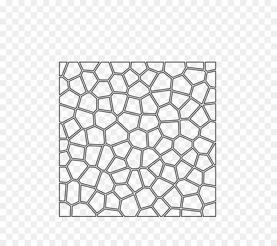 Diagrama de Voronoi de Teselación espacio de Dos dimensiones Círculo ...