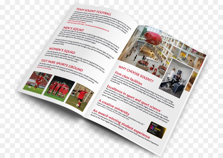 solent university team solent fc advertising brochure restaurant leaflets