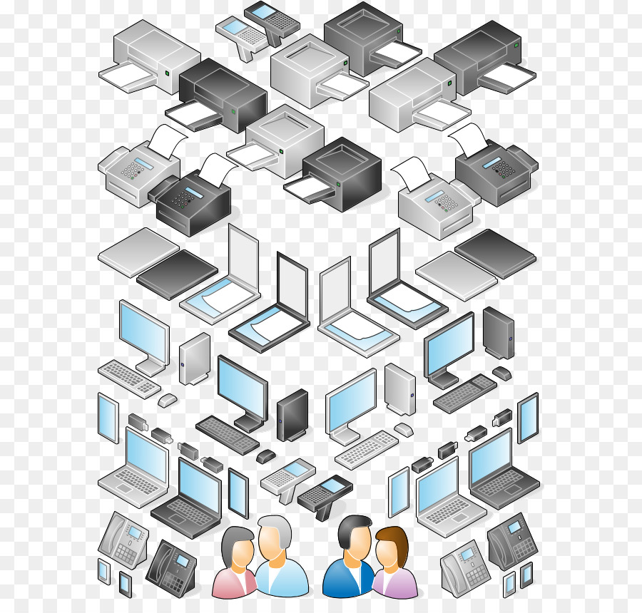 Computer Network Diagram Microsoft Visio Libreoffice Vector Ppt