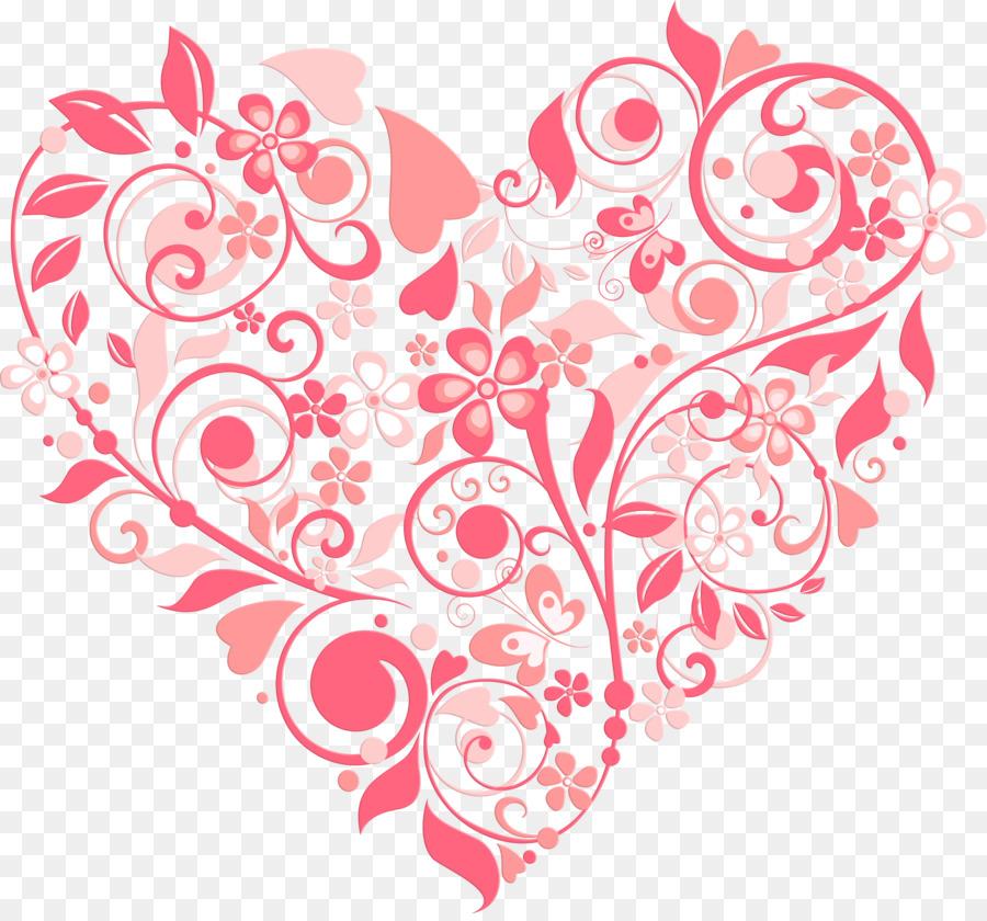 Coeur De Fleur D Invitation De Mariage De Saint Valentin Motif