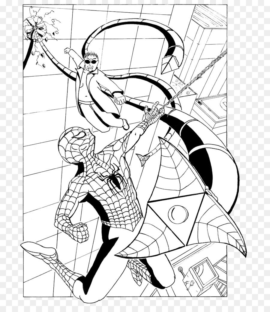 Dr Otto Octavius Spider Man Coloring Book Line Art Venom