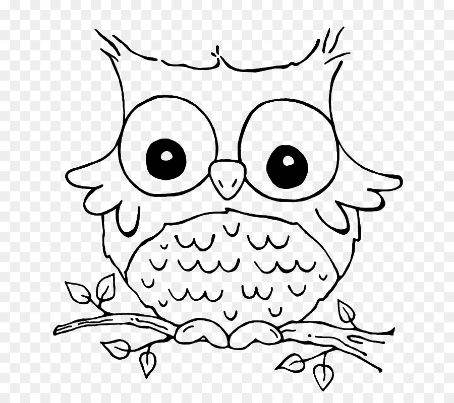 Coloring Book Animal Cuteness Adult Owl