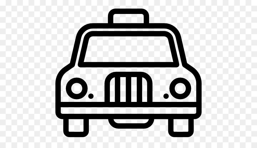 white taxi cartoon