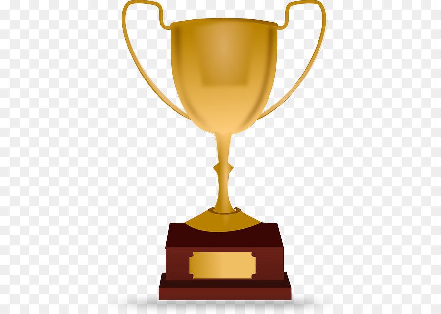 Certificate trophy. Cartoon gold medal png