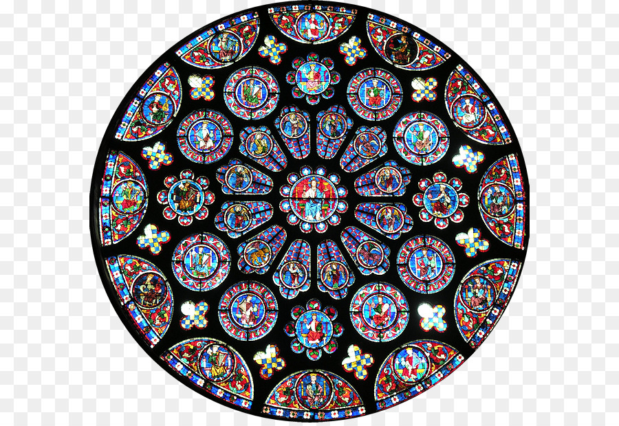 Chartres Cathedral Rose Window Gothic Architecture Notre Dame De Paris