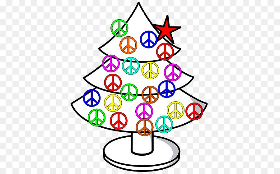 Santa Claus Christmas Peace Symbols Clip Art Holiday Signage Png