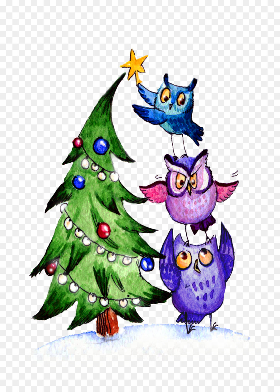 owl christmas tree christmas ornament gorgeous colorful love - Christmas Tree Decorated With Owls