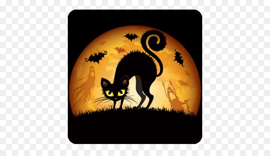 Halloween Desktop Wallpaper Cat Wallpapers Halloween Stage Png