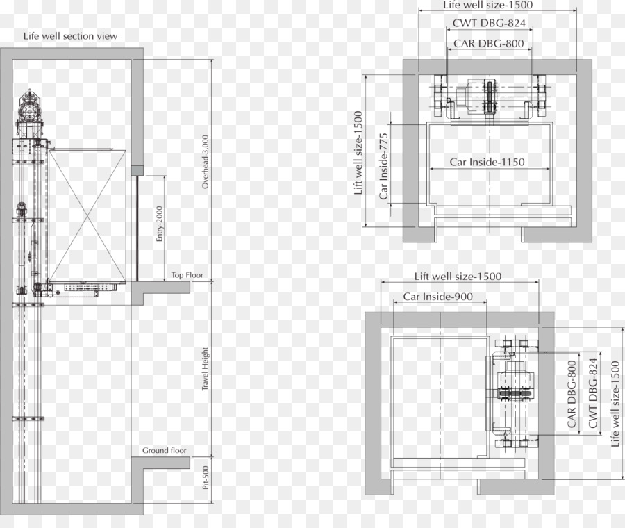 Elevator Floor Plan Home Lift Stairs   Elevator Repair