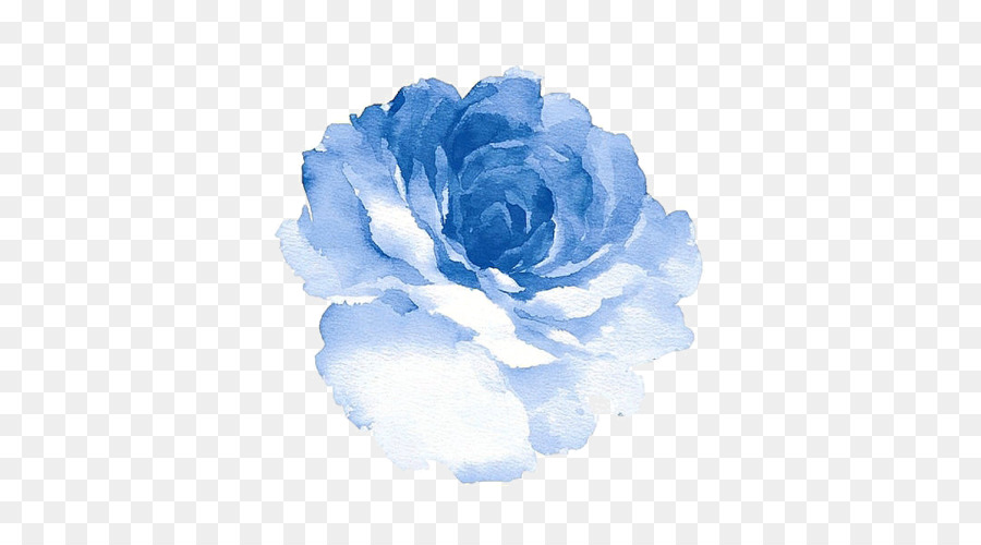 Watercolour Flowers Watercolor Painting Blue Rose