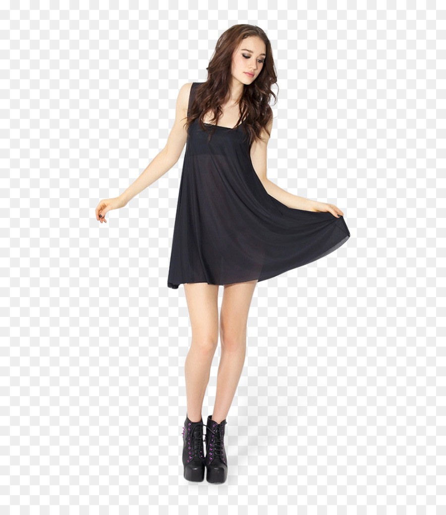 Little black dress Babydoll Clothing Top - hand pants png download ...
