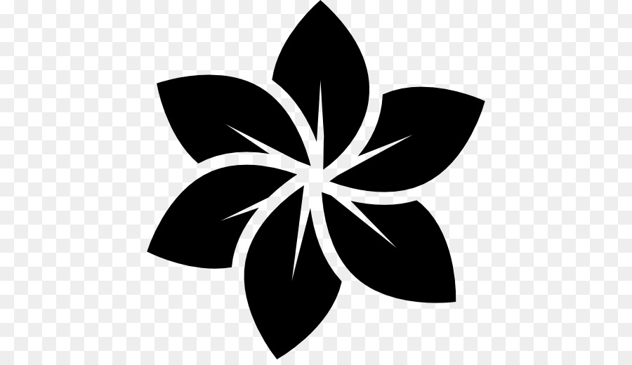 Flower Logo Black And White Clip Art Plumeria Vector Png Download