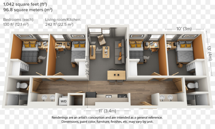 Apartment House Plan Floor Plan Building   Roommates Who Play Games In The  Dormitory