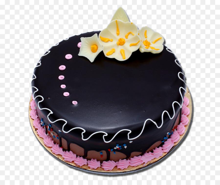 Birthday Cake Chocolate Cake Sachertorte Ganache Bakery Shop Png